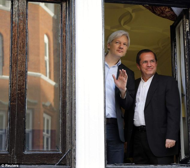 Life inside: Since June 2012, when he took refuge in the embassy to avoid extradition to Sweden on sex charges, Assange has been living a stiflingly claustrophobic existence in a 15ft by 13ft room
