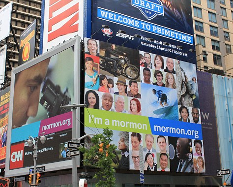 The American Atheist billboard is based on the 'I'm a mormon' ad campaign