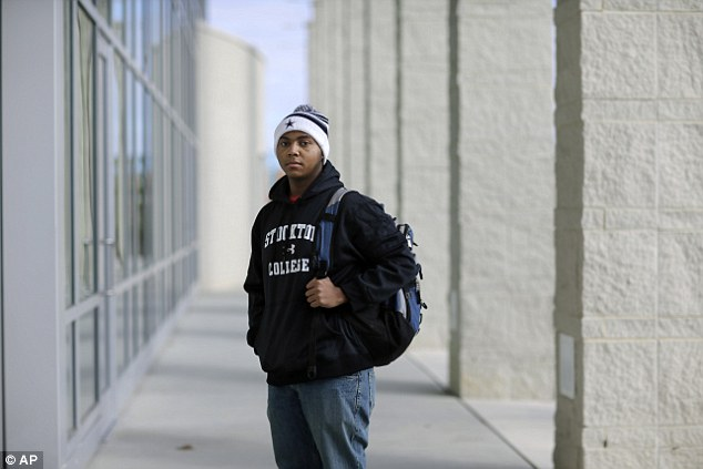 Bright future: Political science student La'Shon Callaway, 19, is optimistic that racial discrimination will continue to decline over his lifetime