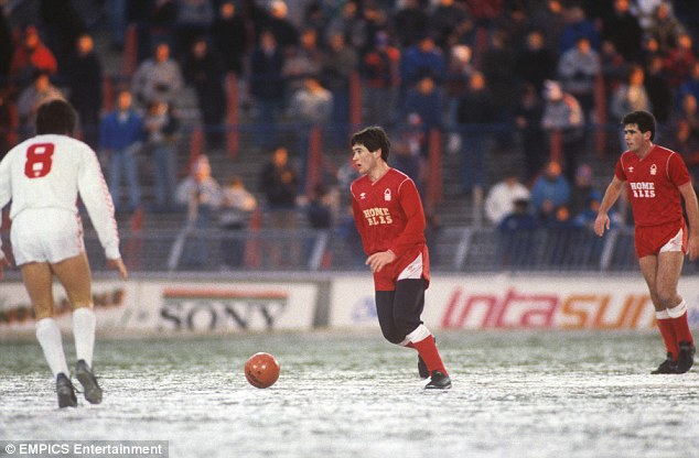 Cup memories: Nigel Clough during his playing days at Nottingham Forest when he opted to wear jogging bottoms under his shorts for an FA Cup match
