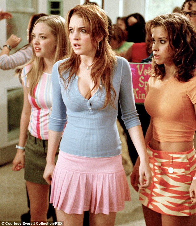 Her biggest hit: The Mississippi native with (from left) Amanda Seyfried and Lindsay Lohan in 2004's Mean Girls