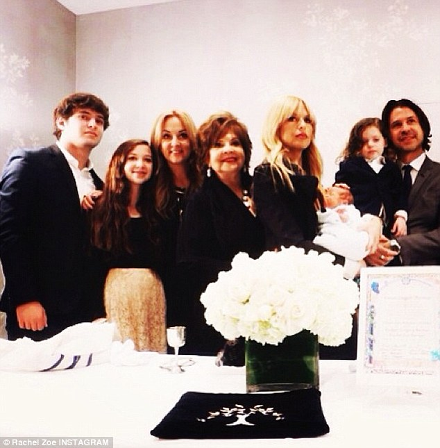 Family picture: On Monday, Zoe gave her Instagram followers a peek at a private celebration for her newest addition