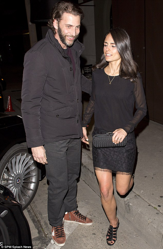 Date night: Jordana and her husband Andrew Form are seen at Craigs restaurant in West Hollywood