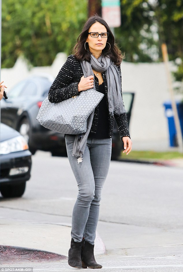 Feeling gloomy? Jordana Brewster steps out for lunch at Lemonade restaurant in Beverly Hills on Friday