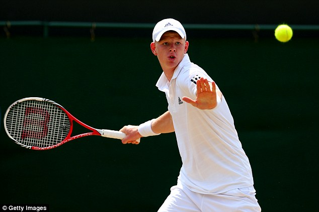 One to watch: British teenager Kyle Edmund is working his way up the world rankings