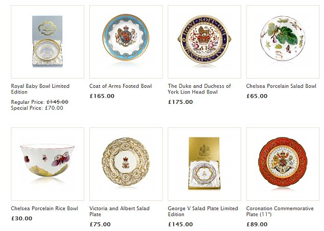 Less than half price: The commemorative collection has seen dramatic price cuts