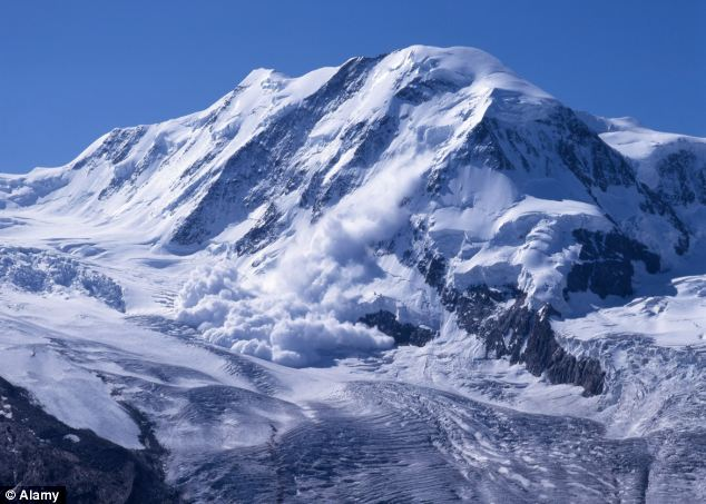 Torrent of snow: The former soldier was battered by two avalanches during the challenge (file picture)