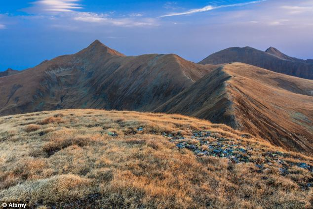 Risky endeavor: The Moldoveanu Peak, pictured during the Summer, is notorious for its unpredictable terrain