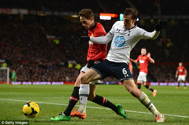 Performance: Chiriches was being praised for his man of the match showing against Manchester United on New Year's Day, which Spurs won 2-1