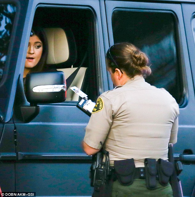 Minor incident: If Kylie was indeed caught for speeding, she will likely escape with just a warning