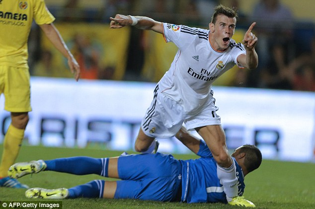 Making his point: Bale's time at Real Madrid has been blighted by injuries