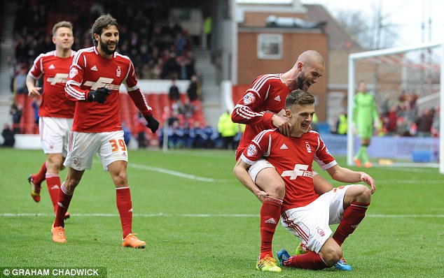 Hat-trick hero: Forest's Jamie Paterson was the outstanding performer in a convincing victory over West Ham