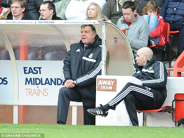 Pressure growing: West Ham manager Sam Allardyce was already being scrutinised, before Sunday's defeat