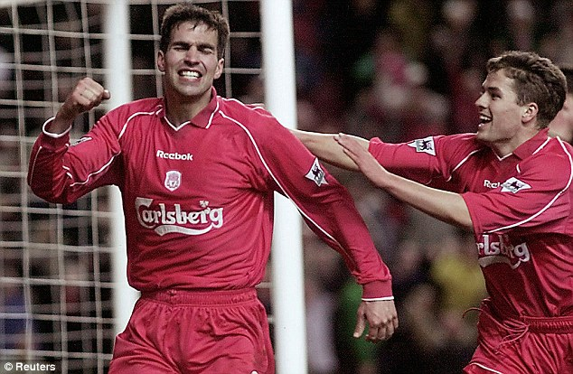 Consistent performer: Markus Babbel (left) excelled as Liverpool won a cup treble in 2001