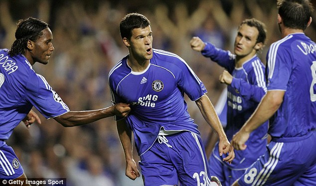 Commanding figure: Michael Ballack rejected some of Europe's biggest teams to join Chelsea in 2006