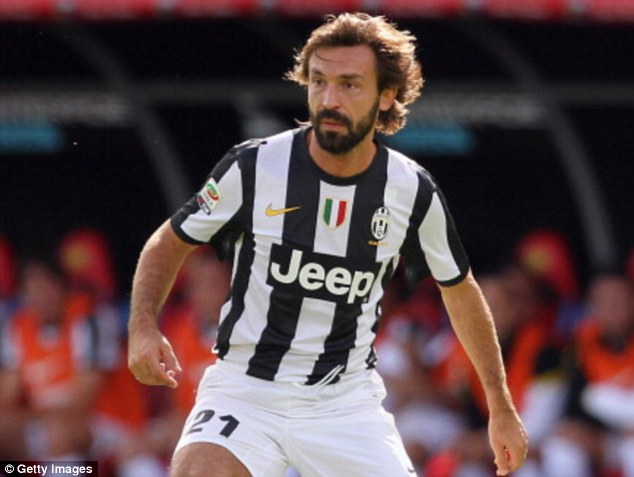 Evergreen: Juventus' Andrea Pirlo is still considered one of Europe's best midfielders