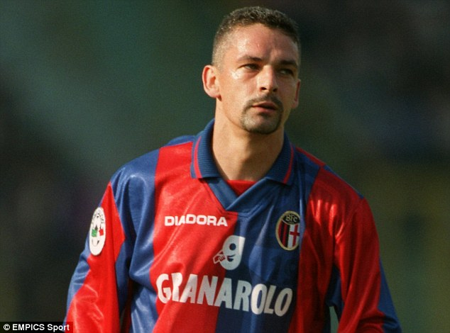 Colossal figure: Roberto Baggio impressively rebuilt his career at Bologna after leaving AC Milan