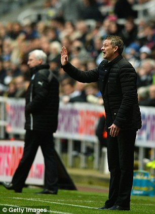 Ole Gunnar Solskjaer issues instructions from the sidelines