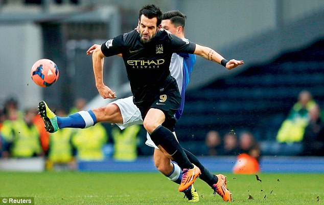 In it to win it: Alvaro Negredo claims Manchester City will not be taking the FA Cup lightly this season