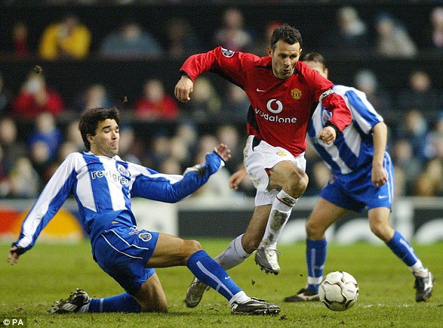 Back in the day: Deco, left, was a talented player and had a knack for winning free kicks