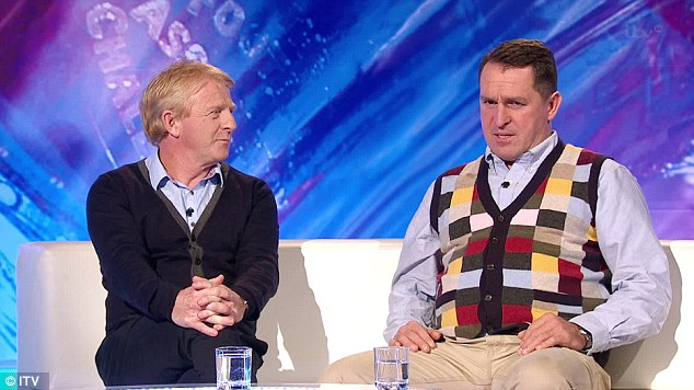What are you saying about my cardy? Martin Allen thought the knitwear matched his personality