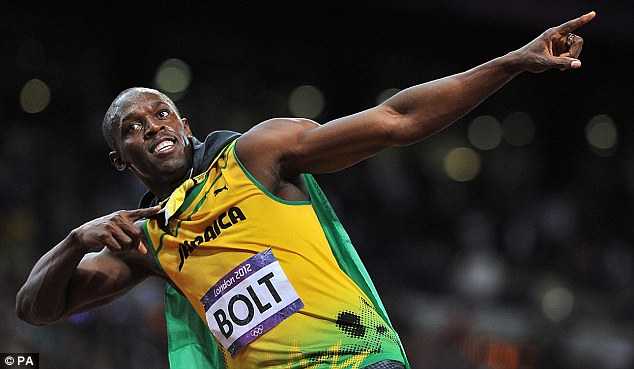 Strike a pose: Usain Bolt takes up a number of different guises during the TV advert