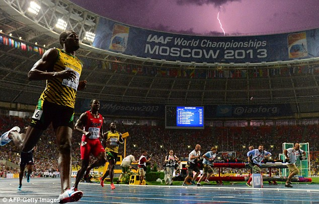 Winner: Bolt was successful at the World Championships in Moscow - particularly in the 100m