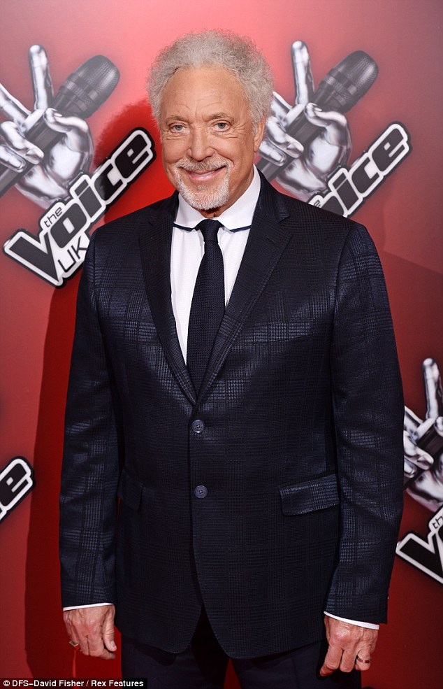 The more mature Voice! Judge Tom Jones showed up for the launch looking spiffy in his well-cut suit