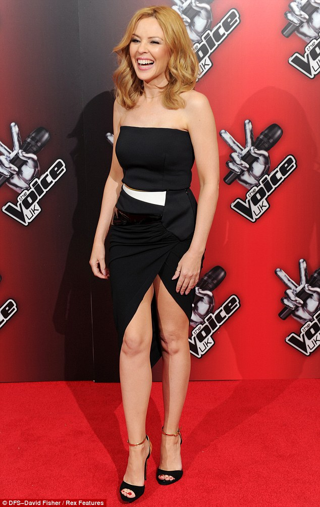 Kylie appeared to be delighted to be on the red carpet again