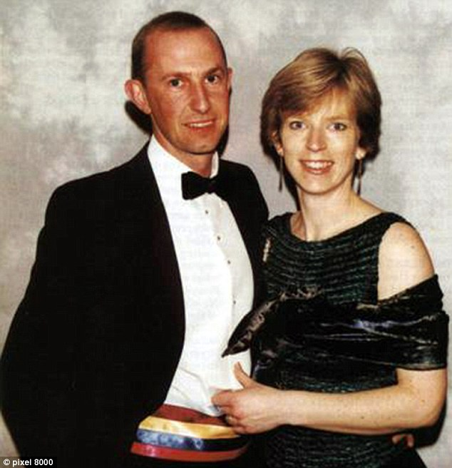 Happier times: Mark de Salis pictured with Karen de Salis. The couple are believed to have separated.