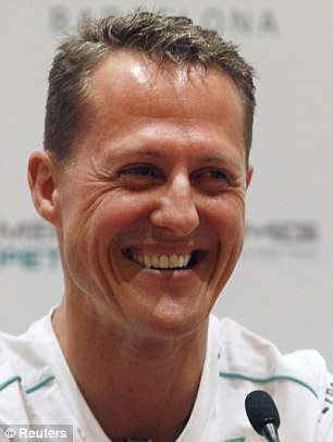 Michael Schumacher was travelling at 12mph when he crashed, a witness claimed