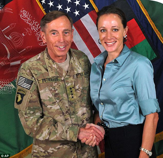 Heart of the matter: In 2012, it was revealed that former General David Petraeus, who was the then-CIA director, had an affair with his biographer, Paula Broadwell (seen together in 2011)