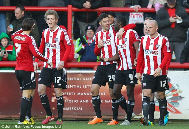 Flying high: The Bees are gunning for promotion from League One despite losing Uwe Rosler to Wigan