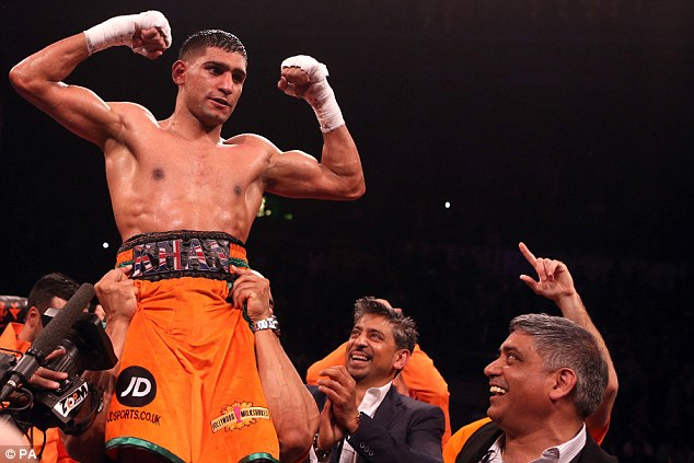 World class: Light welterweight Amir Khan is second on Sportsmail's British lb-for-lb rankings