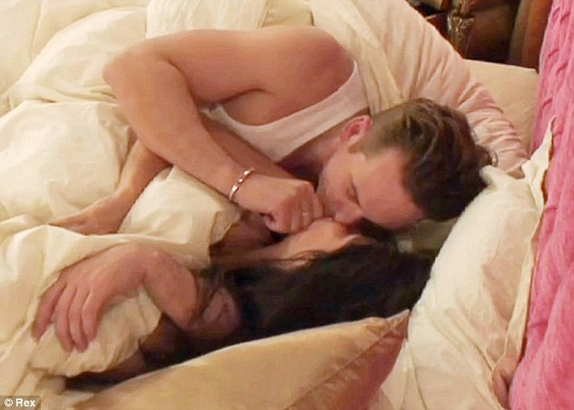Getting cosy: Lee and Casey have been sharing a bad ever since the arrived in the Celebrity Big Brother house