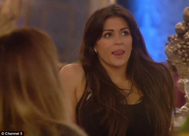 Unimpressed: Casey Batchelor doesn't believe there is love triangle brewing between herself, Lee Ryan and Jasmine Waltz in Celebrity Big Brother