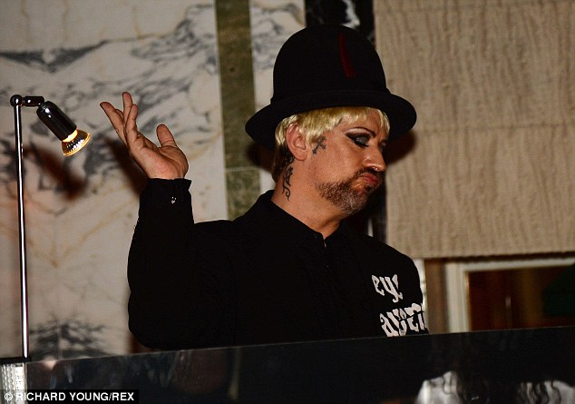 Hey DJ: The singer spun the decks at the fashionable party on Monday night, at The Rosewood hotel