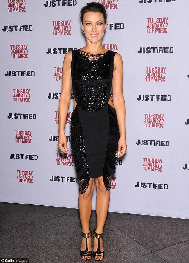 New spin on little black dress: Fringe and sequins gave Natalie Zea's dress a new lease on life