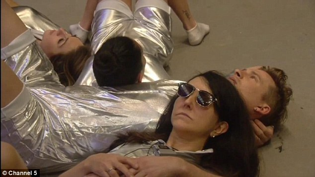 Pass the tin foil: The housemates dressed in silver suits for the UFO challenge