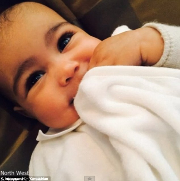 What a cutie! Kim and Kanye welcomed baby daughter North 'Nori' West' into the world on June 15, 2013