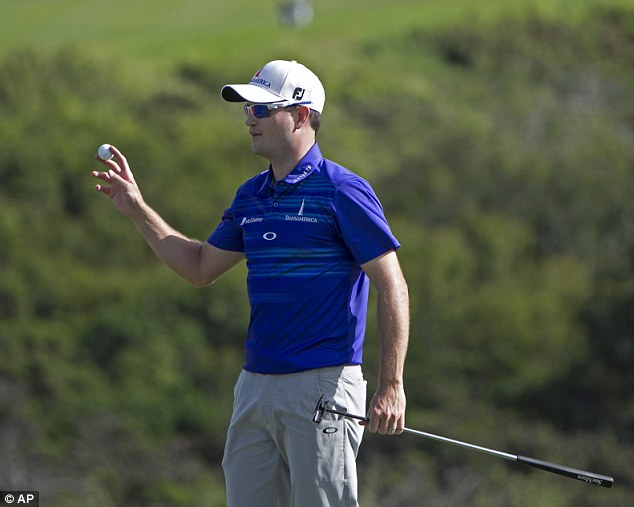 Fightback: It had looked as though Johnson's chance had passed him by after a third round of 74 let a three-stroke lead slip away