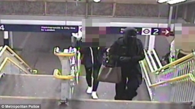 It is alleged that Mary Konye is the woman in the niqab and followed Naomi Oni before attacking her with acid