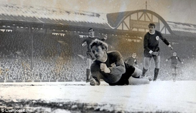 Famous Scouse wit: Liverpool fans sang 'Careless Hands' (hear it below) at Gary Sprake after he threw one into his own net at Anfield in 1967
