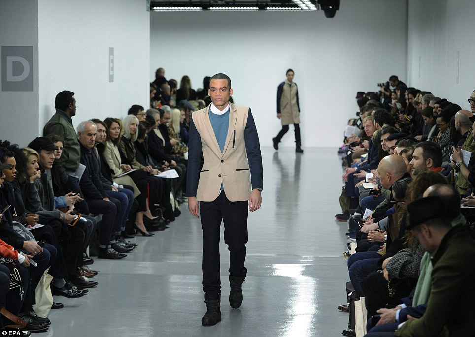 Suited and booted: Christopher Raeburn's AW14 offering was described by the Twittersphere as one of the most versatile of the season so far