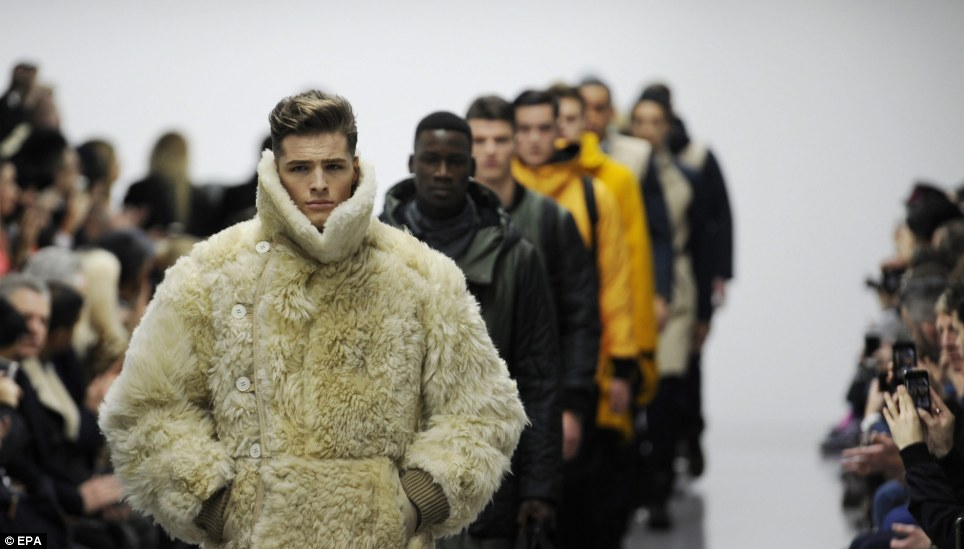And they're back! Day two of London Collections: Men kicked off in stlye in London today and Christopher Raeburn took a cosy approach to fashion with his giant Arctic coats