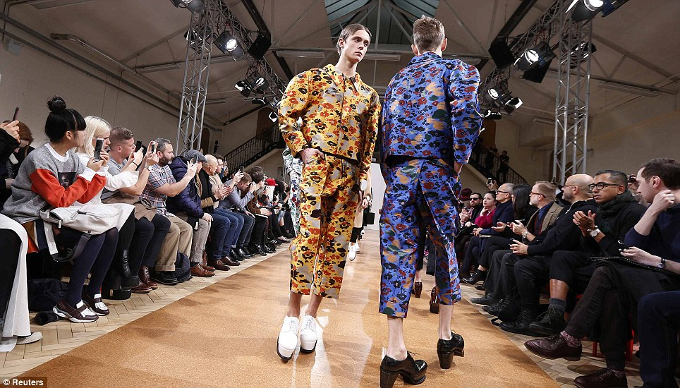 And they're back! Day two of London Collections: Men kicked off in style in London today and J.W Anderson sent his men down the catwalk in chunky heels