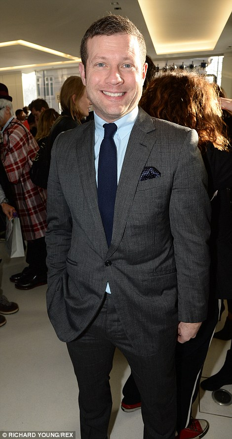 Regulars: Dermot O'Leary and Oliver Cheshire were back for day two of London Collections: Men