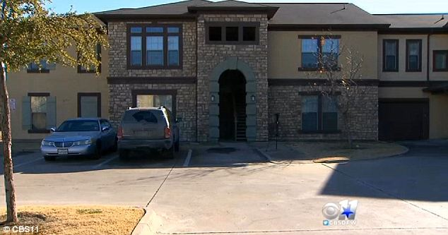 Horror: An 11-year-old girl was arrested for allegedly stabbing her mother nine times at this apartment block in Dallas, Texas