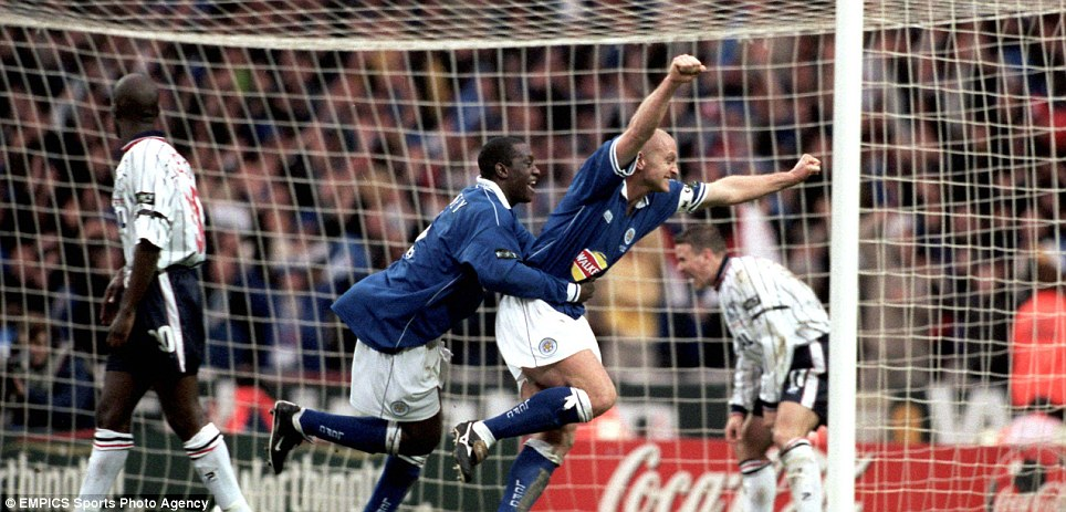 Champion: Emile Heskey won the League Cup on four occasions, for Leicester in 1996/97 and 1999/2000 (here, against Tranmere) and Liverpool in 2000/01 and 2002/2003