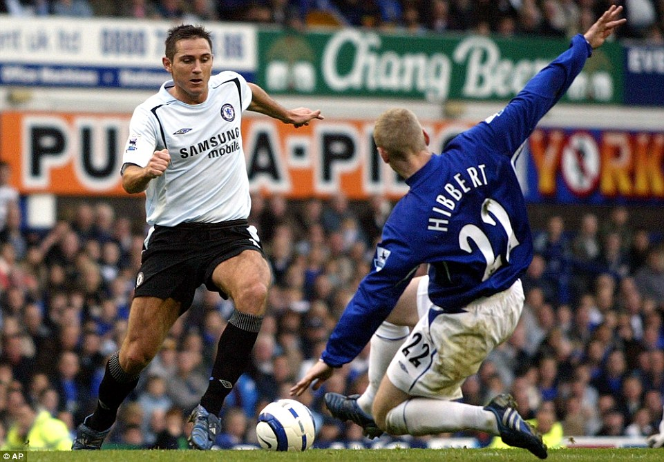 Solid defender: Tony Hibbert was part of the Everton side who lost both at home and away to Chelsea in the League Cup semi-finals in 2007/08